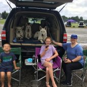Our setup at FastCATS 2020 and Luke's first dog show!