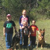 The kids with Avah and Jewels on a 5 miles hike at Henry Horton State Parl