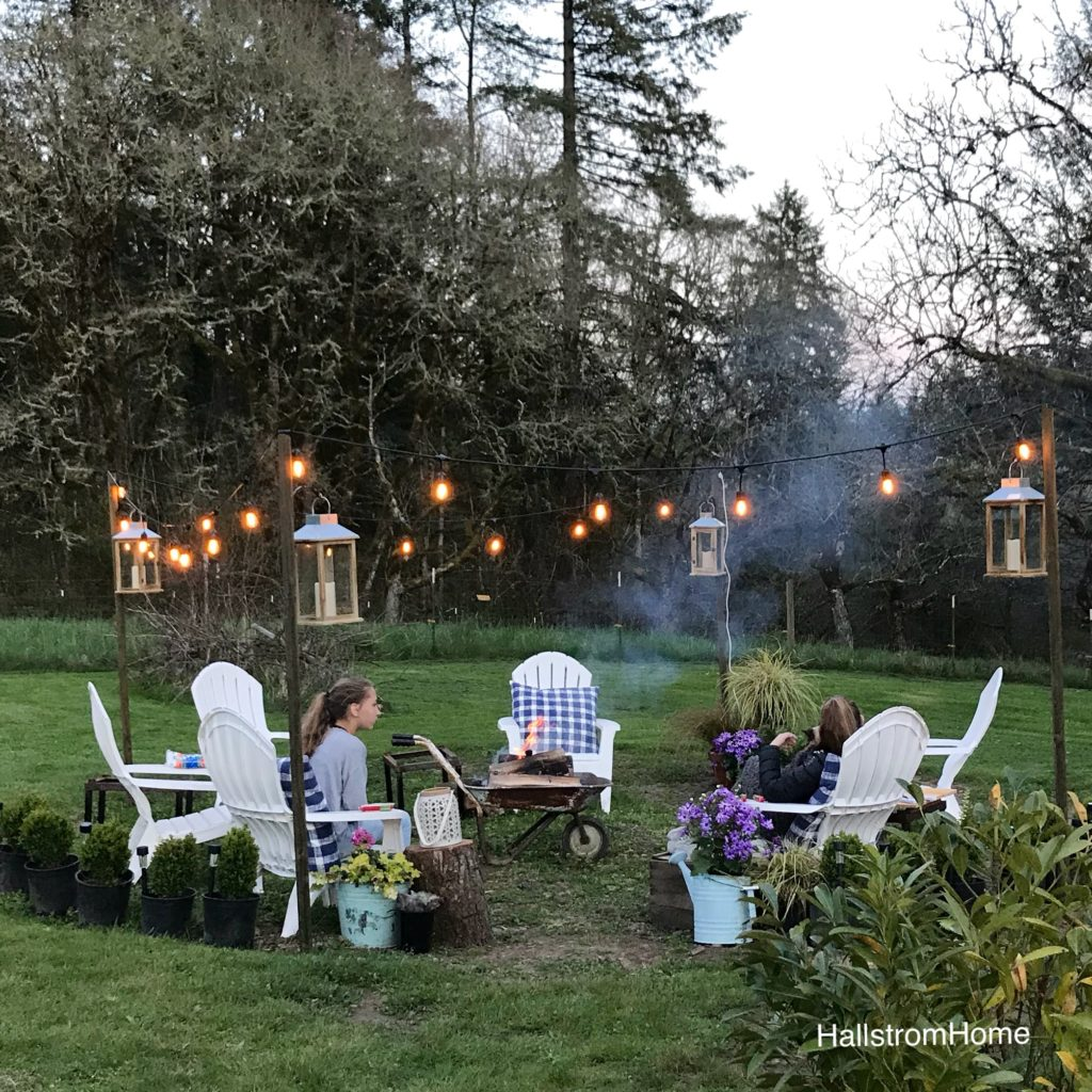 the girl who built a beautiful fire pit