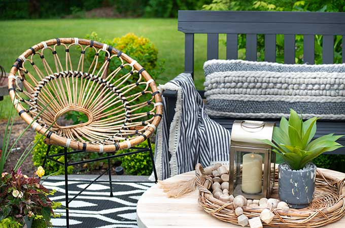 sophisticated bohemian outdoor setting