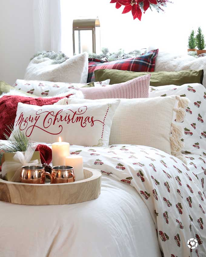 How To Decorate Your Bedroom For Christmas In 6 Steps Hallstrom Home