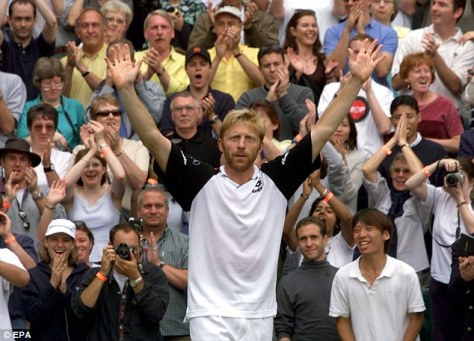 Boris Becker waves goodbye to Wimbledon and his career after Rafter loss