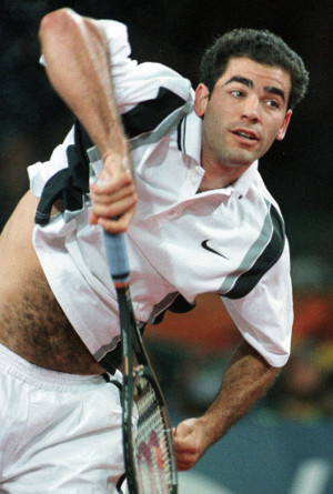 With this monstrous serve Sampras racked up 14 Slams