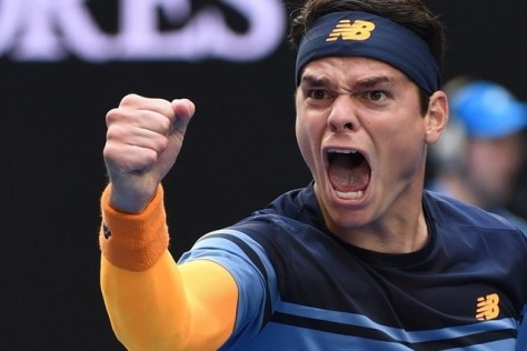 Milos Raonic fired up