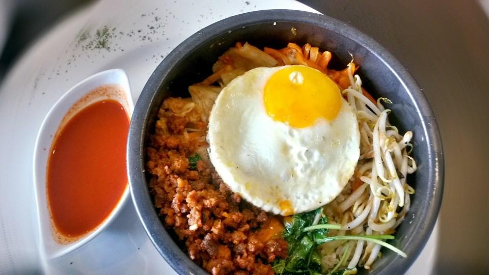 Korean food in bowl