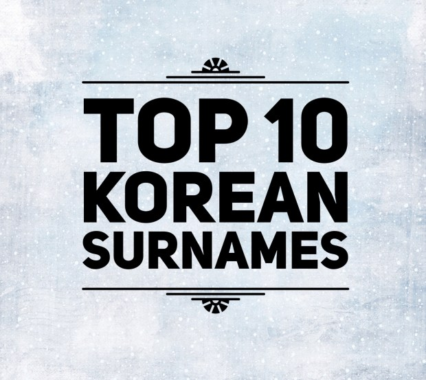 Korean Family Names