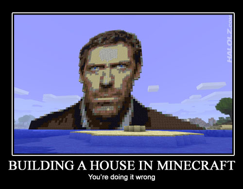 BUILDING A HOUSE IN MINECRAFT