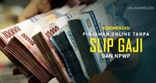 Pinjaman Online Tanpa Slip Gaji dan NPWP Paling Cepat Cair