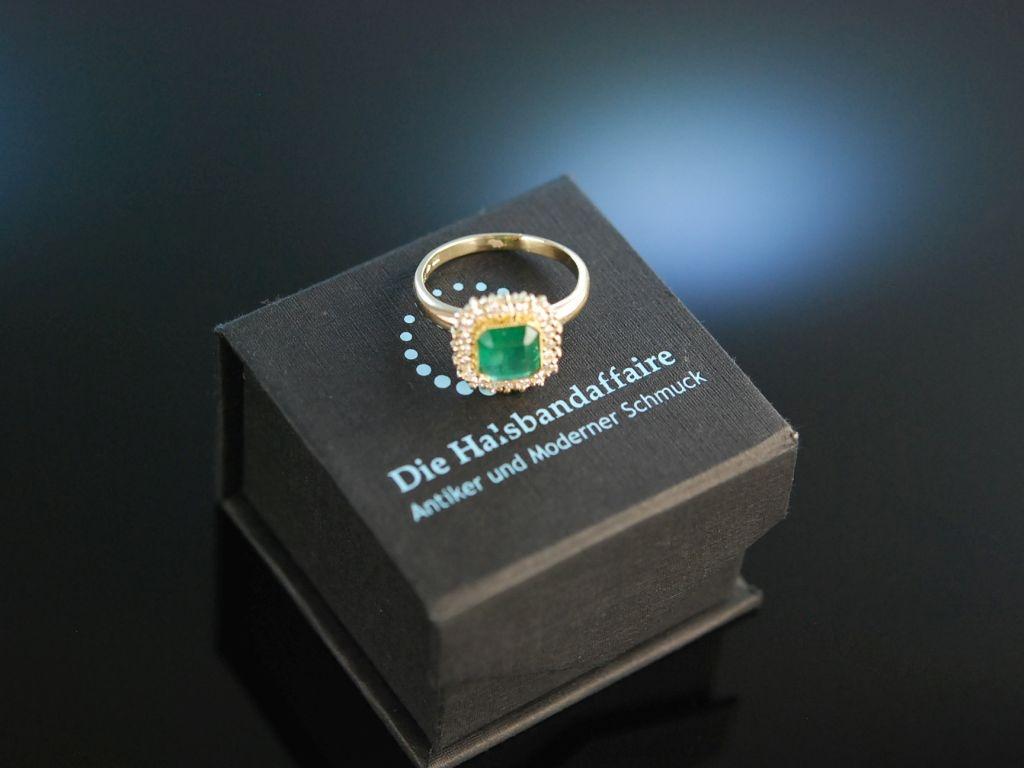 Edles Grn Feinster kolumbianischer Smaragd Ring