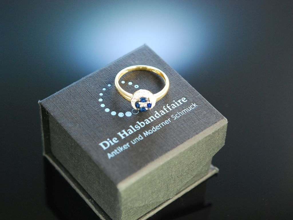For ever mine Verlobungs Engagement Ring Gold 750 Saphire