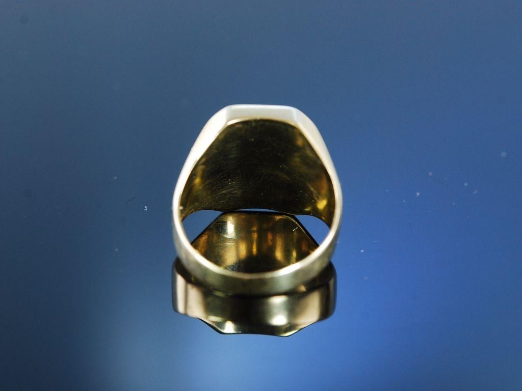 Herrenring Siegelring Gold 333 Onyx 19900