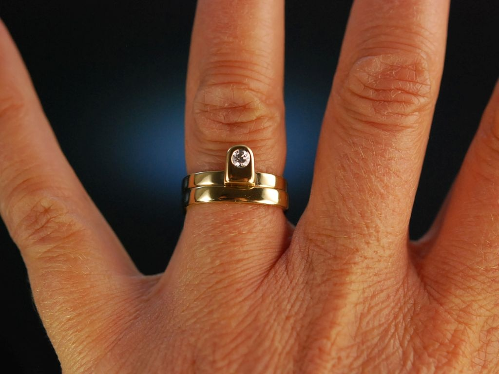 In love with you Paar Ehe oder Freundschafts Ringe Gold