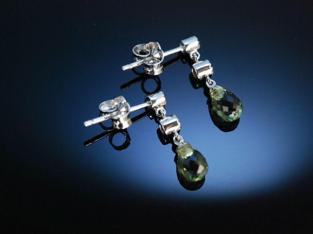 Kinder Ohrringe Weigold 585 grne Saphire Brillanten  14