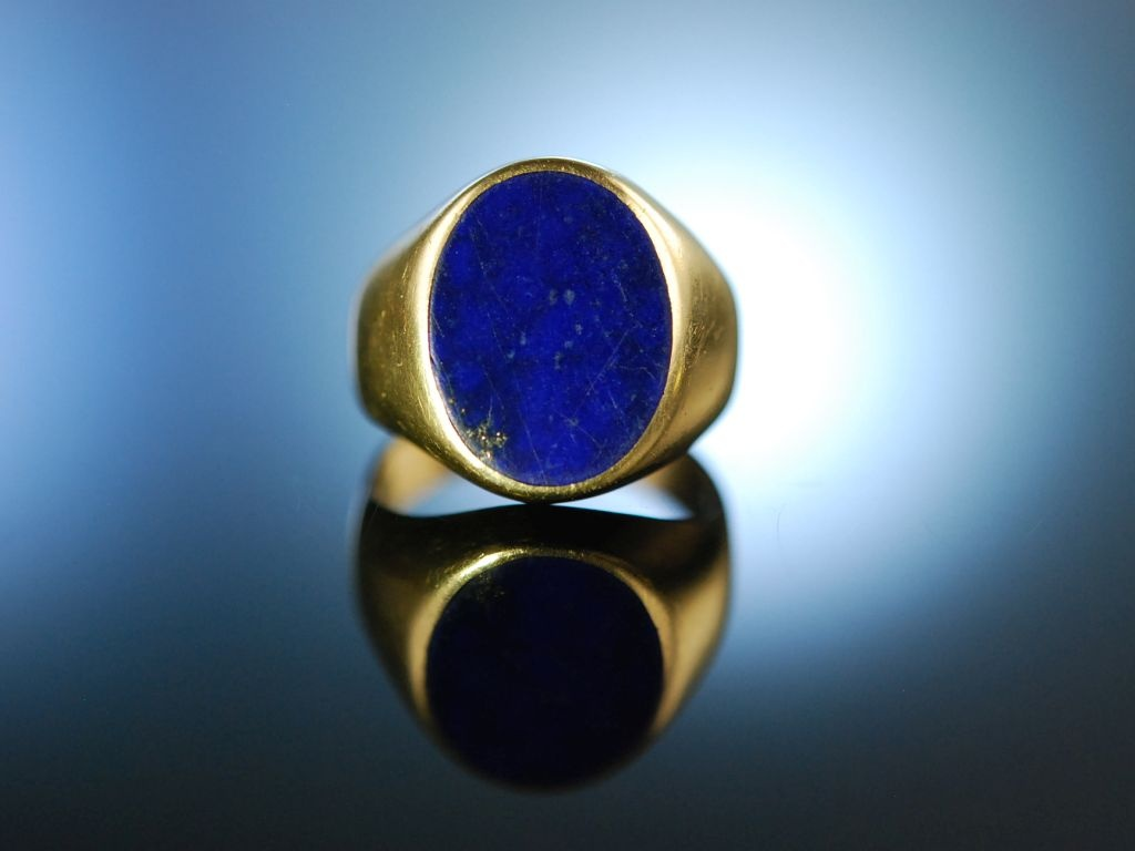 Klassiker Familien Wappen Siegel Ring Gold 585