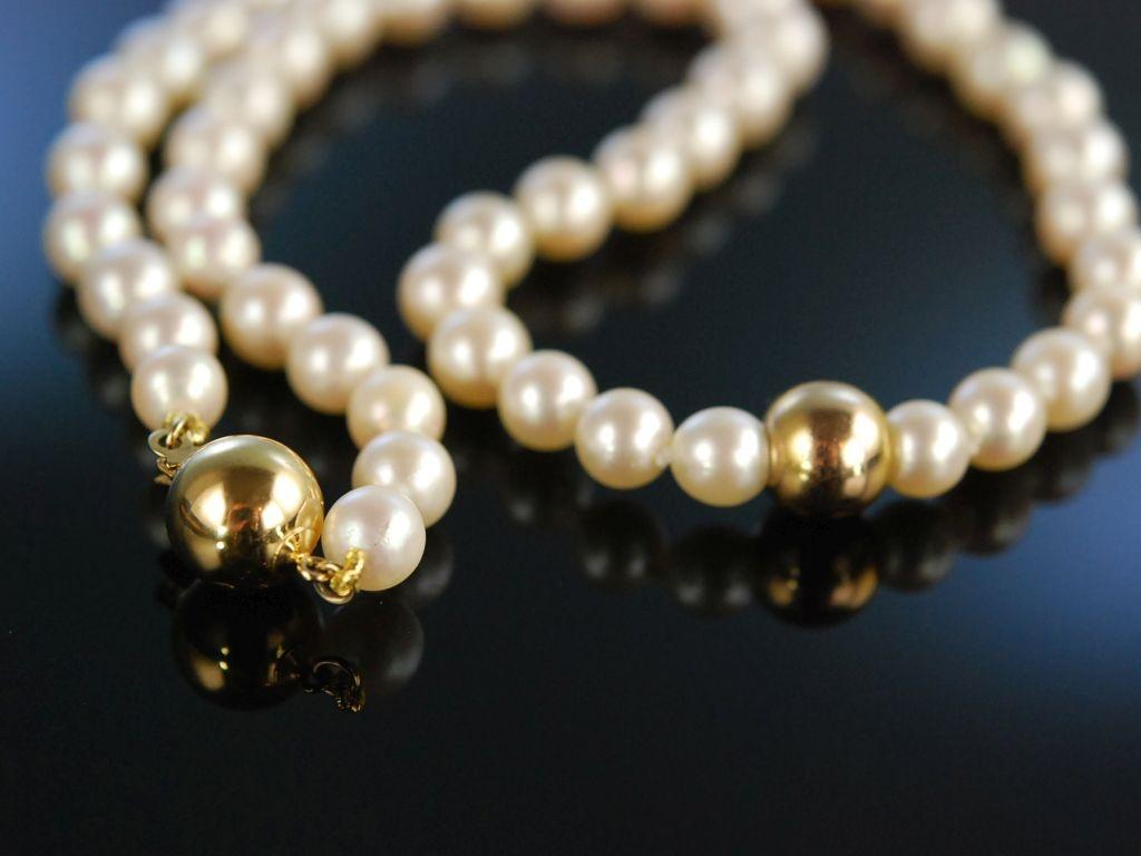 Klassische Perlen Edle Akoya Zucht Perlenkette Zierkugel