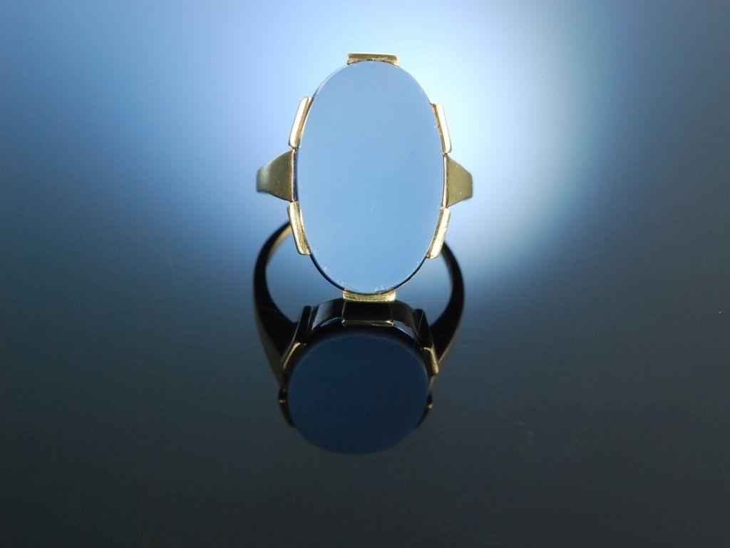 Siegelring Wappen Ring Lagenachat Gold 333 19900