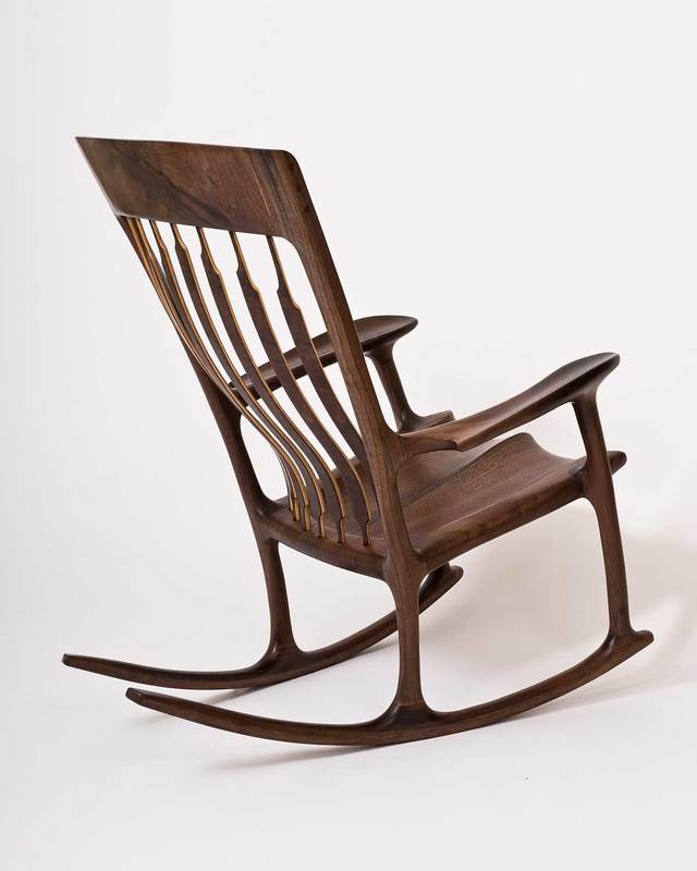 sam maloof rocking chair plans hal taylor steel in bangalore chairs by the following photos show a i made from walnut tree harvested george washington s mount vernon plantation this was alive when