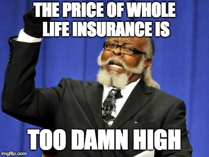 Whole life policy is expensive
