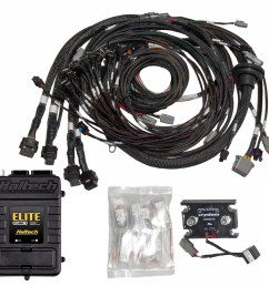includes terminated engine harness distributor msd ready ignition harness and haltech fuse block 8 individual ignition coil ready when used with  [ 1093 x 1052 Pixel ]