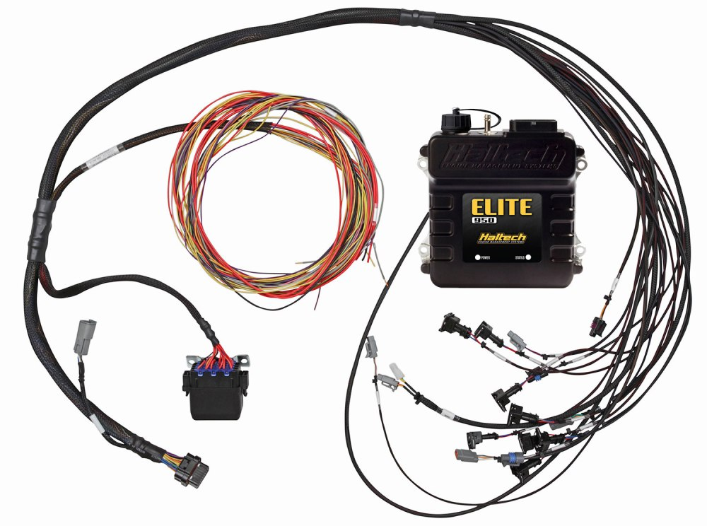 medium resolution of includes haltech elite 950 ecu terminated engine harness three circuit fuse block