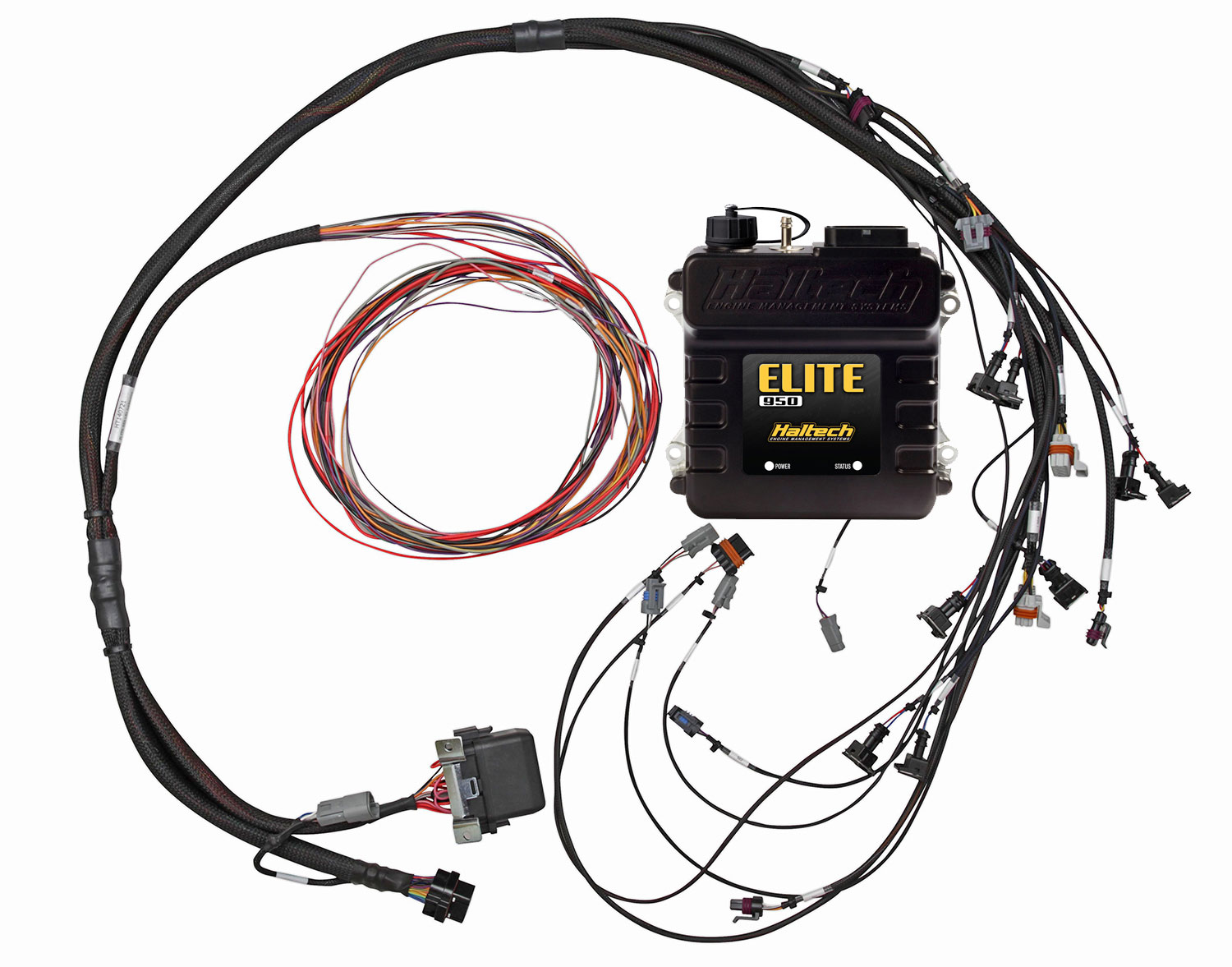 hight resolution of includes haltech elite 950 ecu terminated engine harness three circuit fuse block