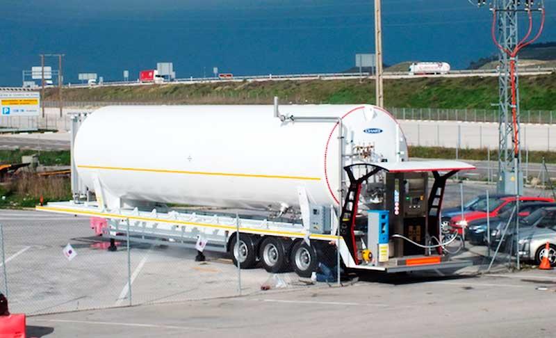 Estación móvil de gas natural licuado en Rubeña, Burgos