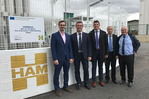 HAM opens liquefied compressed natural gas service station in the Port of Barcelona, funded by the EU through the cHAMaleon Project