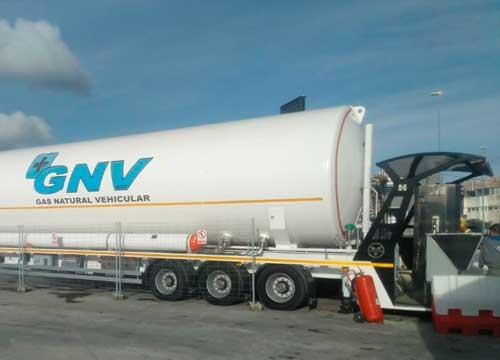Unidad móvil gas natural licuado (GNL) de Grupo HAM