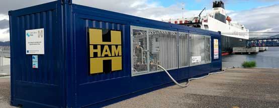 HAM has been responsible for designing and building a mobile liquefied natural gas unit within the Core LNGas Hive Project in the Port of Vigo