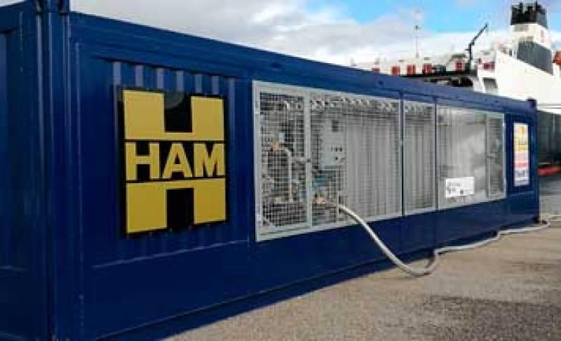 HAM ha sido el responsable de diseñar y construir una unidad móvil de gas natural licuado dentro del Proyecto Core LNGas Hive en el Puerto de Vigo
