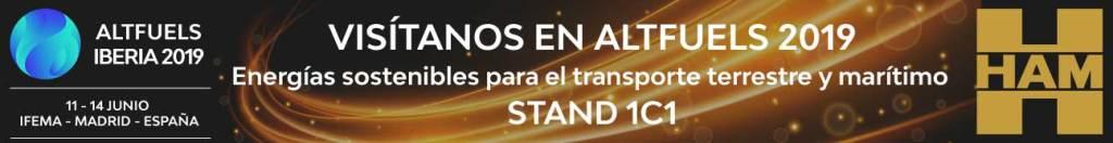 HAM estará del 11 al 14 de junio en AltFuels, donde se habla y se presentan propuestas sobre energías sostenibles para el transporte terrestre y marítimo