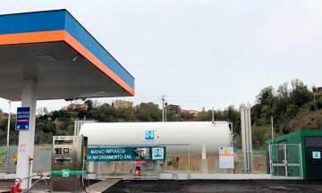 La estación de servicio HAM Riano, Roma, permite repostar GNL