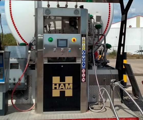 Grupo HAM diseña y fabrica todos los surtidores de sus estaciones de servicio de gas natural licuado (GNL)
