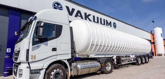 Transportes HAM usa solo las cisternas diseñas y fabricadas por Vakuum, líder europeo que forma parte de Grupo HAM