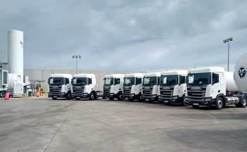 Grupo HAM incorpora en su flota de Trasnportes HAM 7 nuevas tractoras GNL
