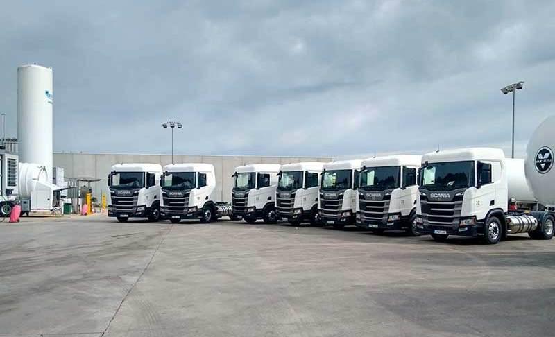 Grupo HAM ha incorporado a su flota 7 nuevas tractoras GNL