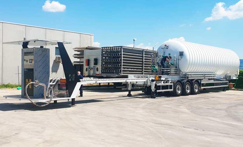 HAM gasinera móvil extensible GNL en Francia