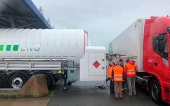 HAM instala móvil GNL-GNC en Marck, Calais, Francia