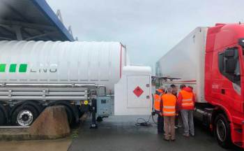 HAM Liquefied natural gas mobile unit extendable up to 9 meters to comply with French regulations