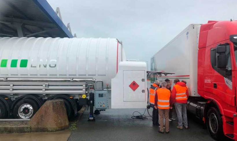 Grupo HAM instala móvil GNC-GNL en Calais, Francia