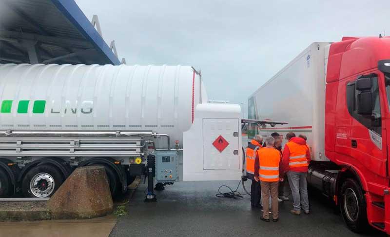 HAM móvil GNL-GNC Calais, Francia