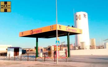 HAM Group opens a new liquefied natural gas (LNG) service station in Madrid