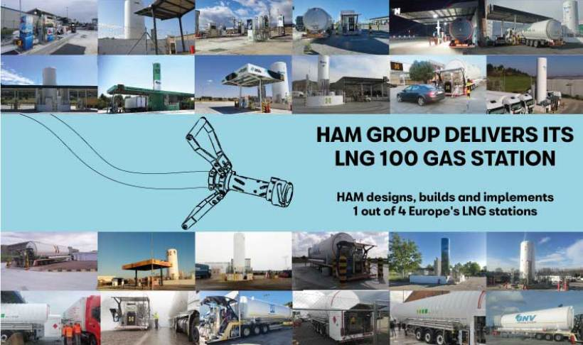 HAM has designed, built and commissioned more than 25% of LNG service stations in Europe