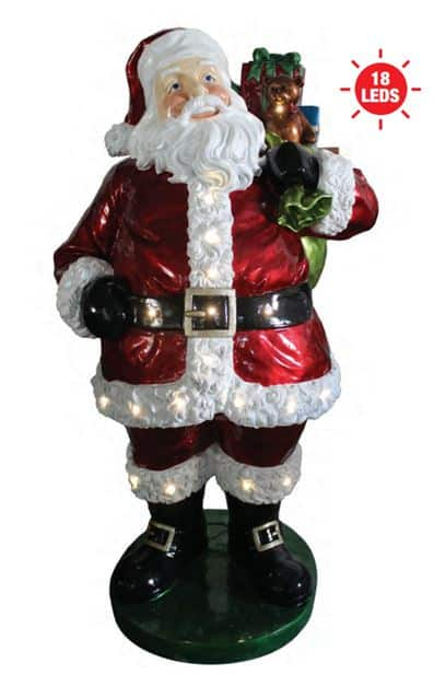 Santa with Gift Sack statue