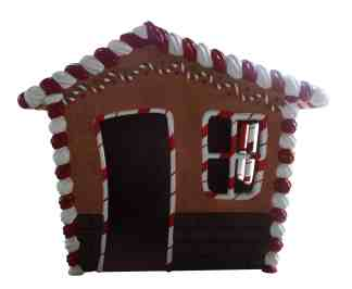 Gingerbread House Front Panel statue