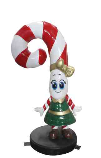 Candy Cane Daughter statue