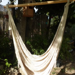 hamac chaise mexicain artisanal ecru