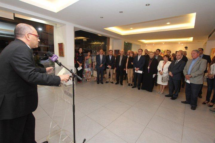 "Artist Arthur K.'s ""Golden House"" Exhibition Opened (Lebanon)"