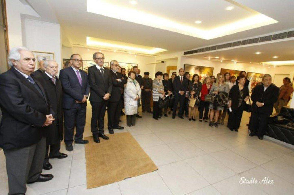 "Artist Missak Terzian's ""Voice of Silence"" Exhibition Opened (Lebanon)"