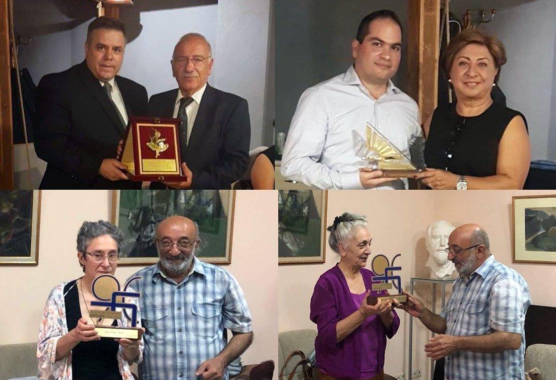 Awards and Plaques Mark Hamazkayin's 90th Anniversary